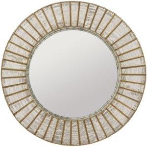 Aurora Antique Silver and Gold Mercury Glass Round Mirror - Shaws