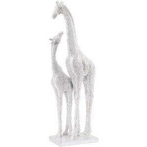 Mother & Baby Resin Giraffe Sculpture_Shaws Interiors