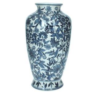 Lauren Blue and White Porcelain Vase