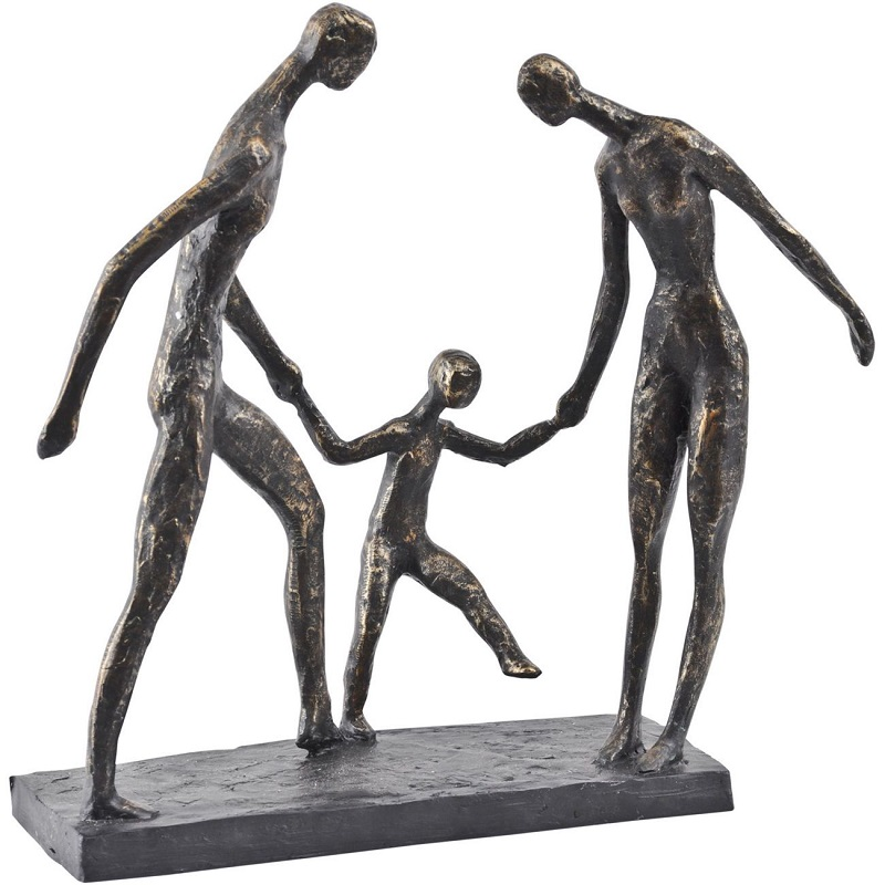 Bronze Family Sculpture- Shaws Interiors