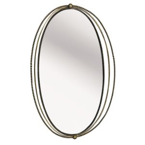 Carrick Oval Gold Iron Mirror With Fine Rope Detail - Shaws