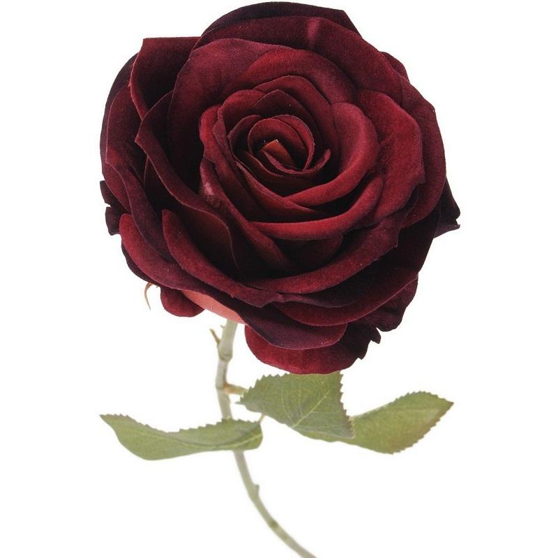 Faux Red Velvet Rose - Shaws Interiors
