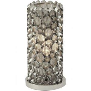 Nickel Tube Table Lamp