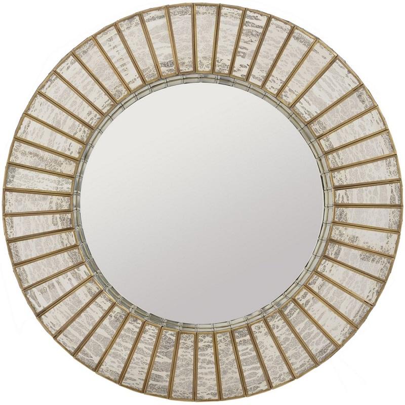 Silver & Gold Glass Mirror- Shaws Interiors