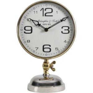Silver Nickel Mantel Clock -Shaws Interiors
