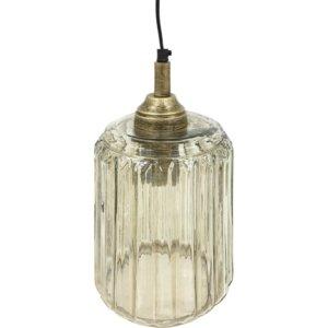 Urban Copper Lustre Glass Pendant 32 cm height - Shaws