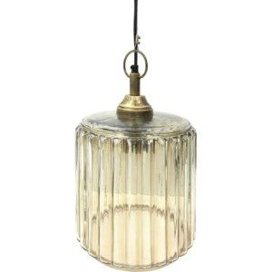 Urban Copper Lustre Glass Pendant 36 cm height - Shaws